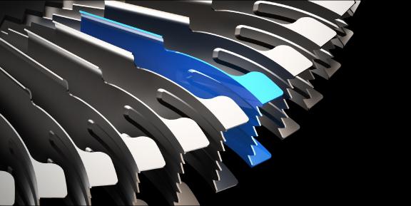 Las puntas alares situadas en el borde superior e inferior del ventilador y la aleta curvada situada a lo largo de la aspa interior reducen aún más las turbulencias.